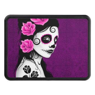 Purple Day of the Dead Sugar Skull Girl Trailer Hitch Cover