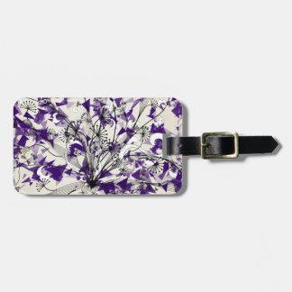 Purple Daze luggage tag