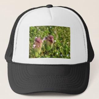 Purple Dead-nettle ( Lamium purpureum ) on green Trucker Hat