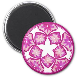 Purple Decorative Floral Tiles Magnet