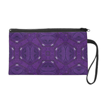 Purple decorative pattern wristlet