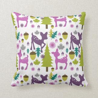 Purple Deer Pillow