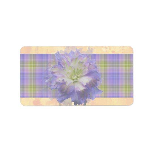 Purple Delphinium Label