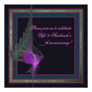 Purple Dervish Abstract Art Announcements