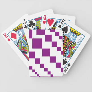 Purple Descending Diamonds Bicycle Playing Cards