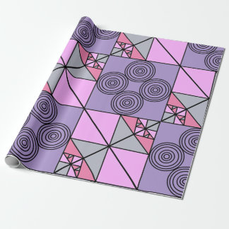 Purple design wrapping paper