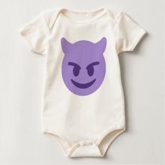 Purple Devil Emoji Baby Bodysuit