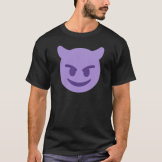 Purple Devil Emoji T-Shirt