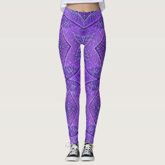 Purple Diamond Geometric Leggings