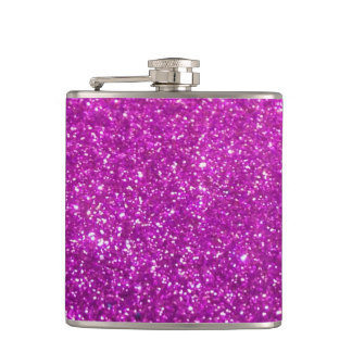 Purple Diamond Glitter Flasks