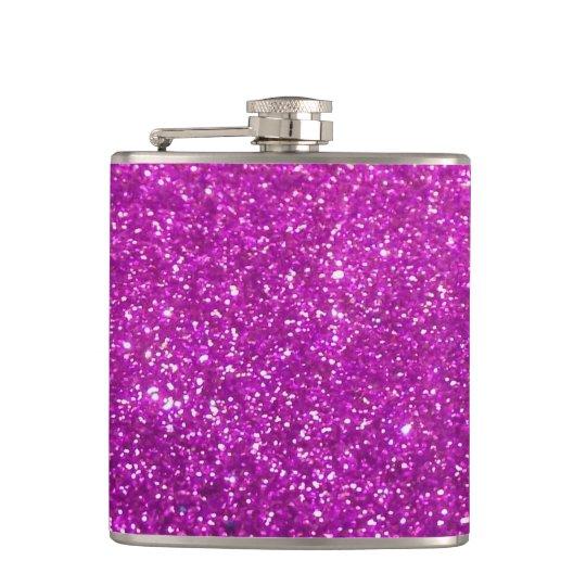 Purple Diamond Glitter Flasks