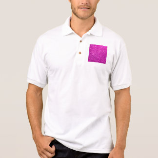 Purple Diamond Glitter Polo Shirt