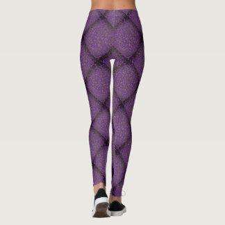 Purple Diamond Modern Mosaic Pattern Leggings