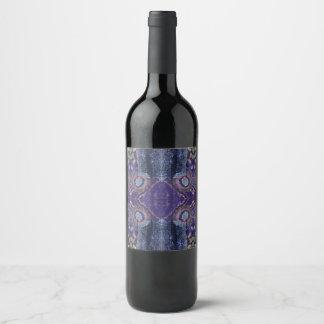 purple diamond wine label