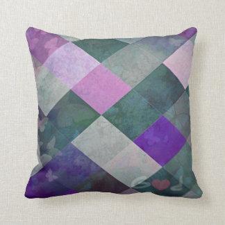 Purple Diamonds Throw Pillow