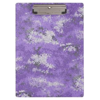 Purple Digi Camo Clipboard