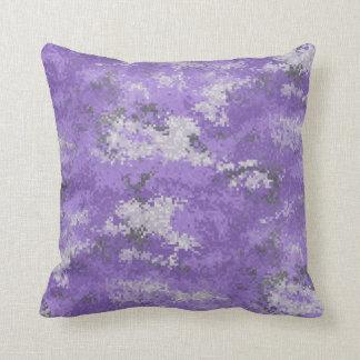 Purple Digi Camo Throw Pillow