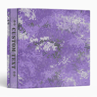 Purple Digi Camo w/ Custom Title 3 Ring Binder