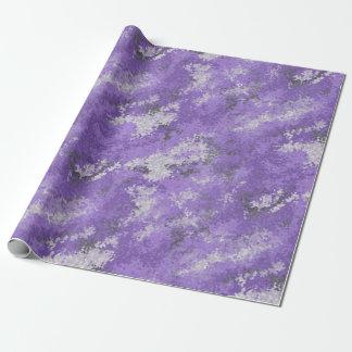 Purple Digi Camo Wrapping Paper
