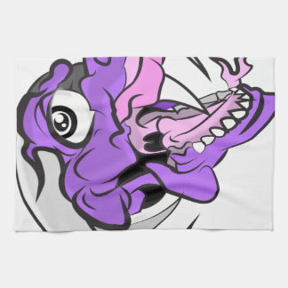 Purple Dino Head Kitchen Towel