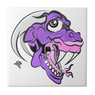 Purple Dino Head Tile