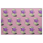 Purple Dinosaur Hatchling Fabric