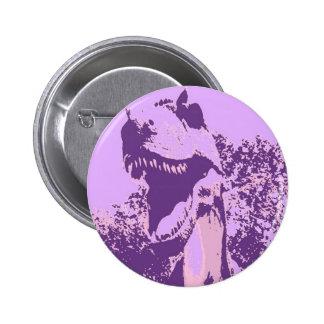 Purple Dinosaur T-Rex 2 Inch Round Button