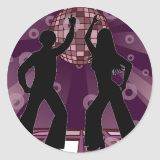 Purple Disco 2 Classic Round Sticker