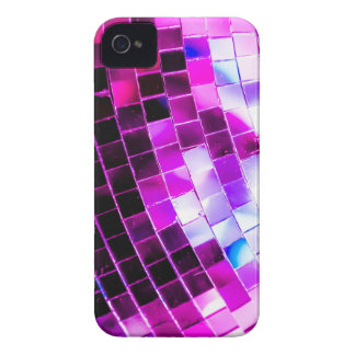 Purple Disco Ball iPhone 4 Case-Mate Cases