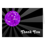 Purple Disco Ball Thank You Note Card