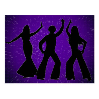 Purple Disco Postcard