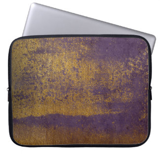 Purple Distressed Gold Texture Laptop Sleeve