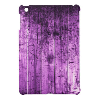 Purple Distressed Wood Grain Print iPad Mini Case