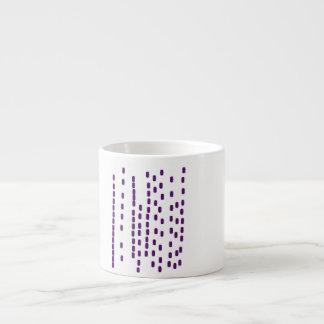 Purple DNA espresso cup