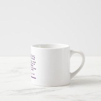 Purple DNA espresso cup horizontal