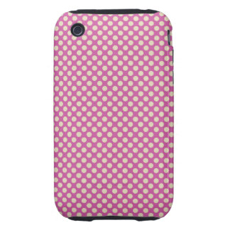 Purple Dots Design Case Mate Tough  iPhone 3 Case