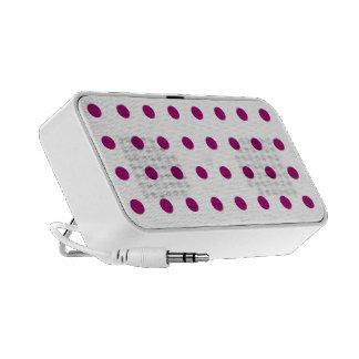 Purple dots portable speaker
