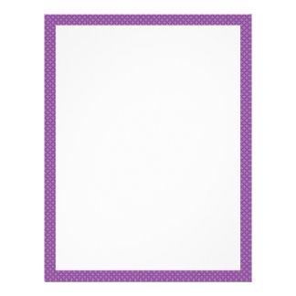 Purple Dotted Border Letterhead
