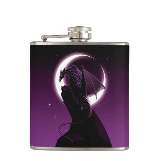 Purple Dragon 6 oz Vinyl Wrapped Flask