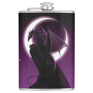 Purple Dragon 8 oz Vinyl Wrapped Flask