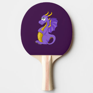 Purple dragon cartoon ping pong paddle