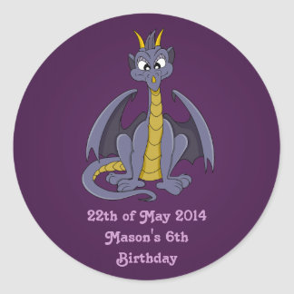 Purple dragon cartoon Stickers