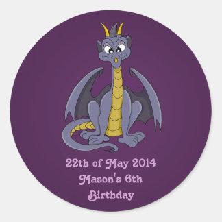 Purple dragon cartoon Stickers