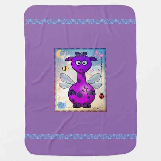 Purple Dragon Fairy Baby Blanket