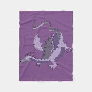 Purple Dragon fleece blanket