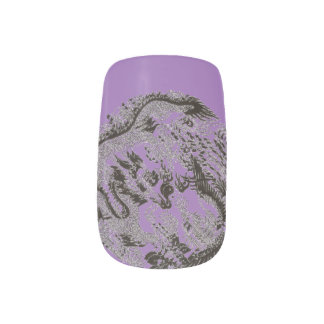 PURPLE DRAGON MINX NAIL ART