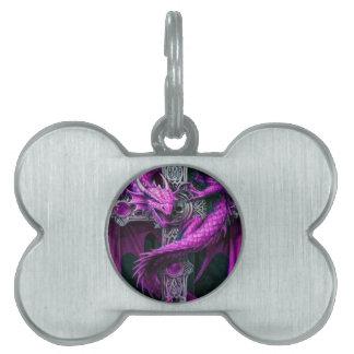 Purple Dragon Pet Name Tags