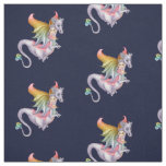 Purple Dragon Rider Faery Fabric