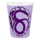 Purple Dragon Stained Glass Window Paper Cup