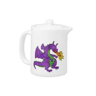 purple dragon throwing flames